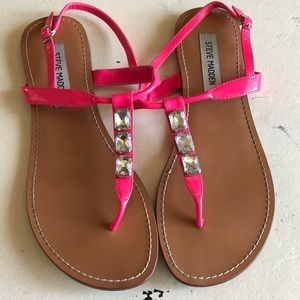 STEVE MADDEN | Hot Pink Bling Sandals Summer 9